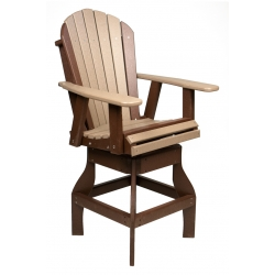 Adirondack Swivel Bar Chair