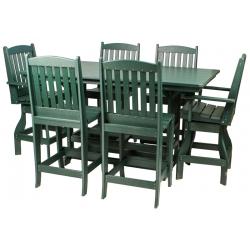 "44"" x 72"" Bar Height Table Set"