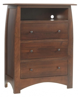 """Bordeaux 38"""" Chest of Drawers with Opening"""