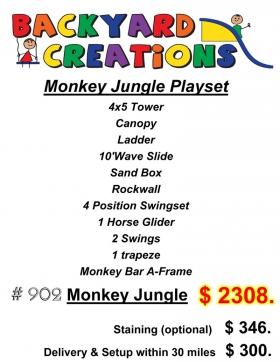 Monkey Jungle-Gym Playset